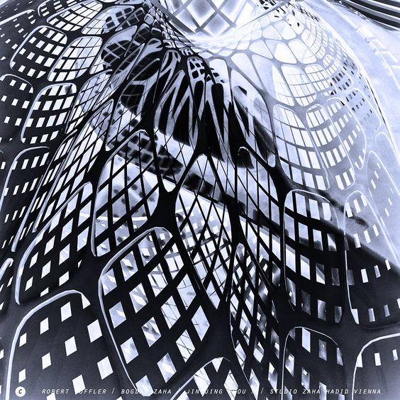 Zaha hadid vienna and studios on pinterest for Parametric architecture zaha hadid