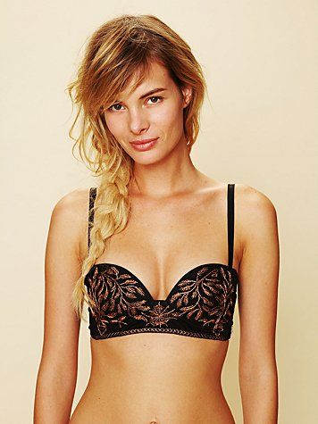 Embroidered bra. Free people.