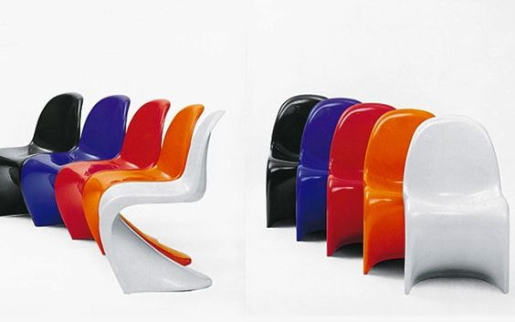 Chair Verner Panton, produced by Vitra (60's)
