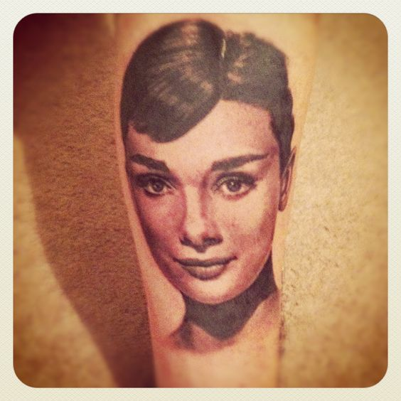My Audrey Hepburn tattoo.... Leigh, cosmic tattoo