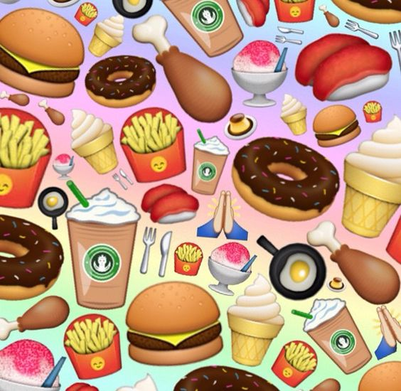 food emoji wallpaper with cute - photo #3
