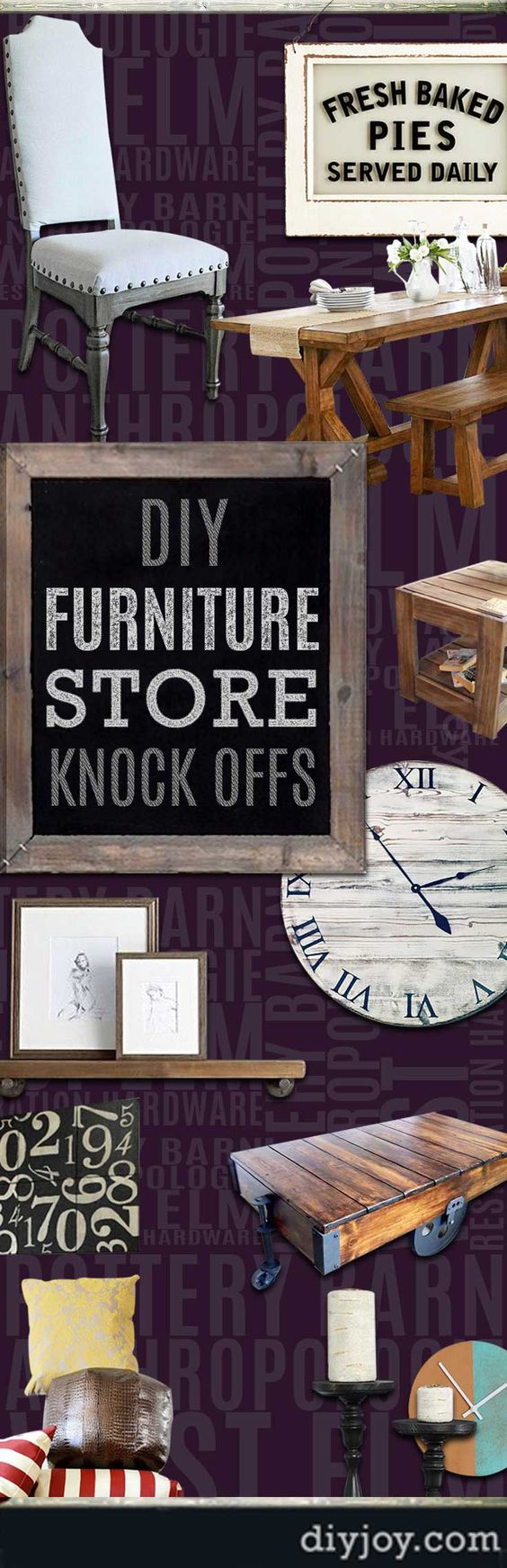 DIY Furniture Ideas and Projects - Do It Yourself Designer Store KnockOffs - DYI Furniture Projects Inspired by Pottery Barn, Restoration Hardware, West Elm. Tutorials and Step by Step Instructions  |   Pottery Barn Knock Off Candle Holders and Candles  |   http://diyjoy.com/diy-furniture-store-knockoffs