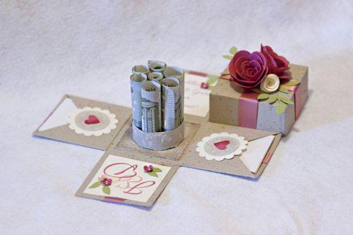 Explosionbox, Stampin, Hochzeit, Glückwünsche, Wedding, Geschenk, Geldgeschenk