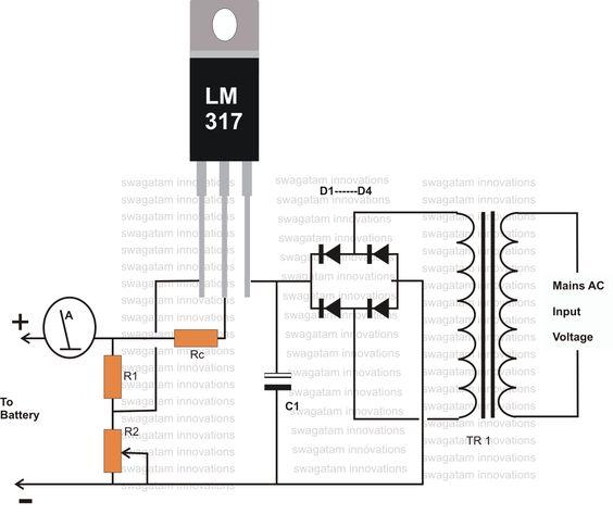 battery charger circuit diagram pdf