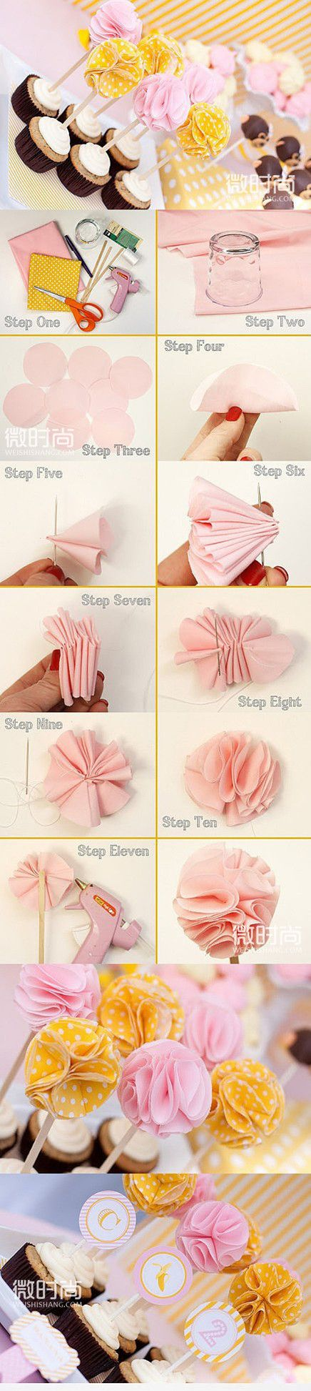 [Mei Mei cloth flower petals DIY] yet another super beautiful fabric flower DIY approach!  Hands-on fun, but if you just looked at do not feel it, and quickly act it ~:
