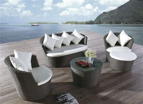 Marigold 5 Piece Rattan Sofa Set with Coffee Table      	  	  Features:  No-Rust Iron Frame  Rattan with Polyethylene Coating For Longevity  Glass Top Coffee Table  Includes Accompanying Cushions and Throw Pillows  1 year Manufacturer's Quality Guarantee  $1099.99 includes FREE home delivery!