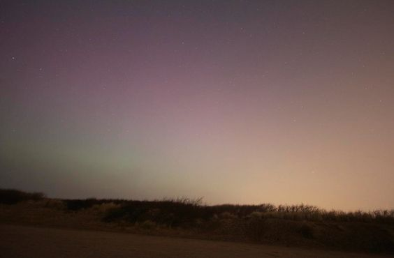 Formby Beach northern lights this March - Rob Doyle