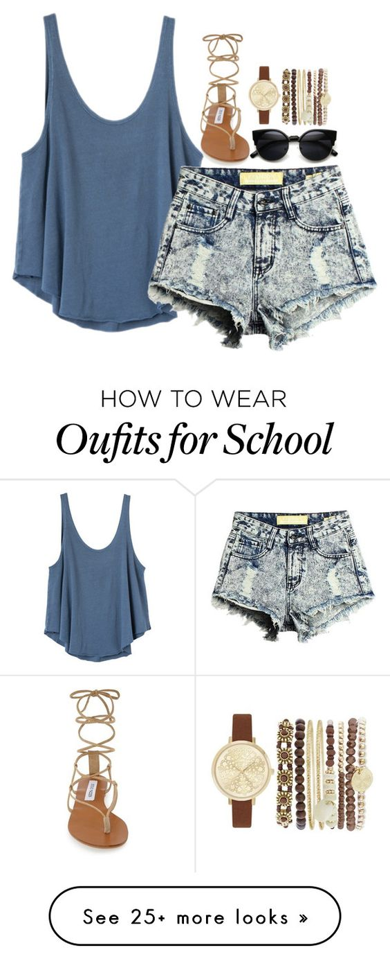 """Back to School: My Styles 2"" by loubear223 on Polyvore featuring RVCA, Steve Madden and Jessica Carlyle"