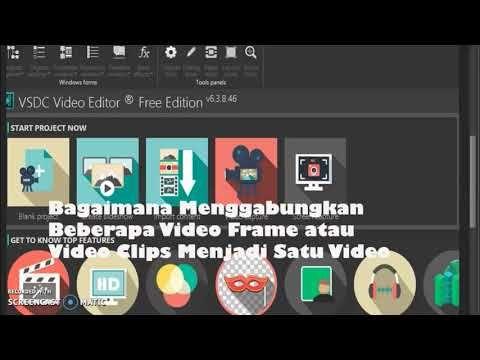 Cara Menggabungkan Beberapa Video Dengan Vsdc Video Editor Tutorial Vsdc Video Editor Video