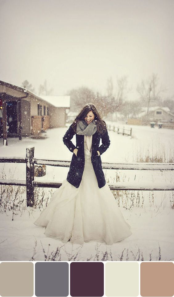 if there could be guaranteed beautiful flurries like this on my wedding day, I would love a winter wedding: