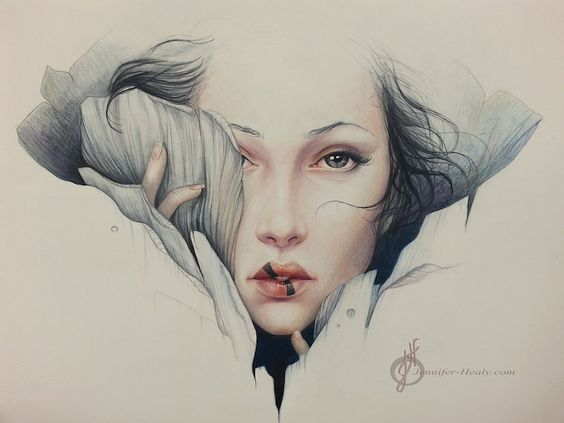 Alluring Female Colored Pencil Portraits by Jennifer Healy - My Modern Met