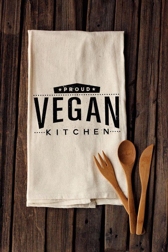 Super Cute! Proud Vegan Kitchen! Etsy listing at https://www.etsy.com/listing/185906863/proud-vegan-kitchen-organic-cotton