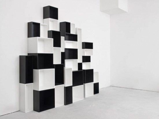 Storage Wall Cubit By Mymito In Black White Color