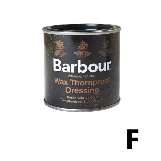 BARBOUR THORNPROOF DRESSING #Barbour #Wax #Menswear #Design #FMCreport #Stamped  Easy to apply and an essential for all owners of Barbour's famous waxed cotton jackets this wax-based treatment is made with the exact formula used by J Barbour & Sons' South Shields factories and should be applied to jackets to ensure they stand the test of time.  Shop now: www.endclothing.com