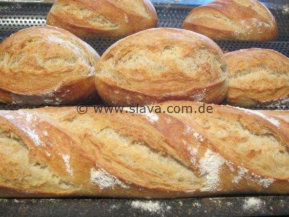 Knusper Krustis nach Lea Linster - (Baguette und Brot mit easy-über-Nacht-Vorteig)