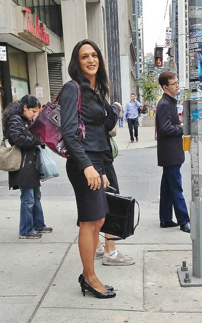 Off to work dressed as a woman by mayatoronto1, via Flickr