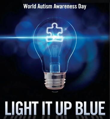 AUTISM SPEAKS: April 2nd is World Autism Awareness Day and it will be here before your know it. Have you signed up to participate in the 2014 event yet? Your commitment and a blue light bulb is all you need to show your support in the simpliest way at home, or you can organize an event in your church, school, neighborhood, work, etc. As of this posting, 10,844 are signed up worldwide. Use the link to visit the 'Light It Up Blue' website for more information.: