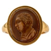 Cameo Ring of a Man in Profile