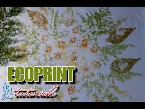 Tutorial Ecoprint Pewarnaan Alami Youtube Dengan Gambar
