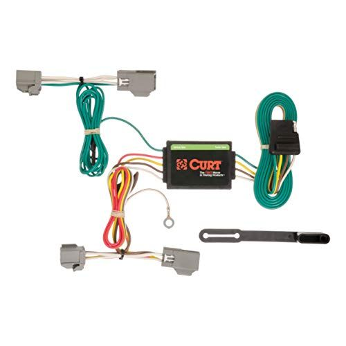 Curt 56191 Vehicle Side Custom 4 Pin Trailer Wiring Harness For Select Ford Fiesta Custom Trailers Hatchback Custom