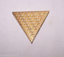 Vintage Art Nouveau Faberge Compact Triangular Shape Basket Weave Design Rare