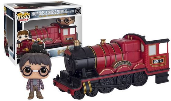 >20 Hogwarts Express Engine w/ Harry Potter Funko Pop