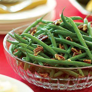 brown butter green beans w/ pecans