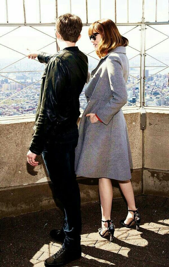 Dane Dehaan with Emma Stone