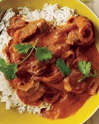 ... for new recipes for lamb shoulder... Lamb Rogan Josh from Food & Wine