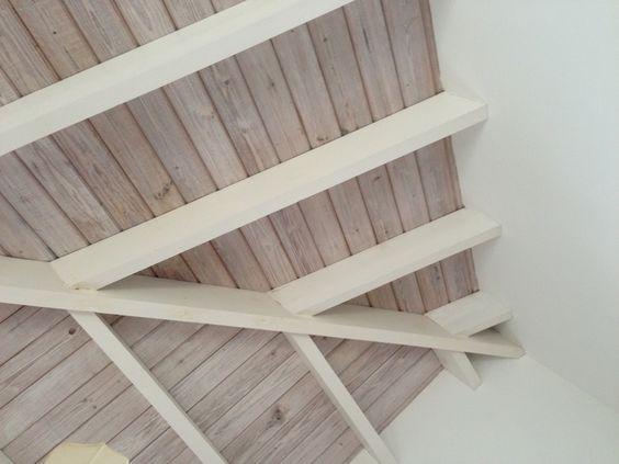 4 natural ceiling whitewashed beams nw wainscott for Natural wood beams