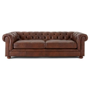 Nottingham 96 Leather Sofa Jcpenney Chairs