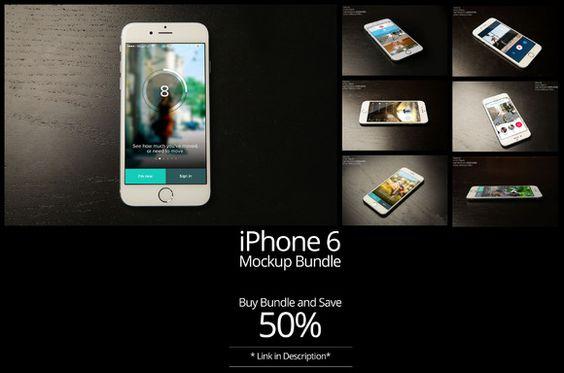 7- iPhone 6 Mock up Bundle Vol-2 by shrdesign on @creativemarket