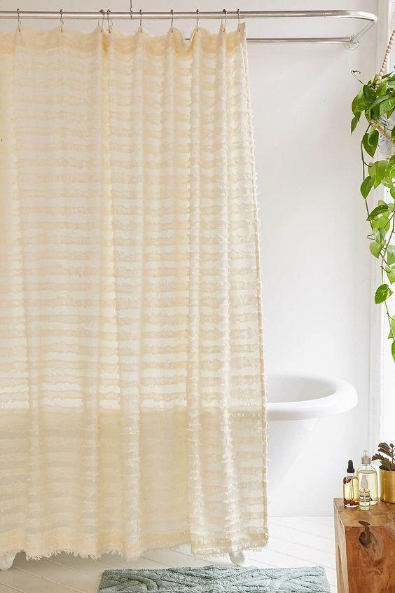 Eyelash Fringe Shower Curtain