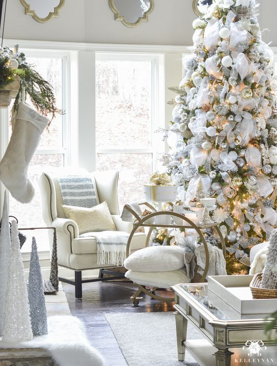 100 Best Inspiring Christmas Tree Design Ideas Christmas Decorations Living Room Classic Christmas Decorations Elegant Christmas Decor Xmas decorations for living room