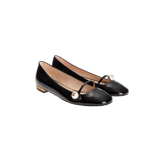 Gucci Leather Flat Shoes ($569) ❤ liked on Polyvore featuring shoes, flats, black, black flats, black flat shoes, gucci flats, leather flats and t-strap flats