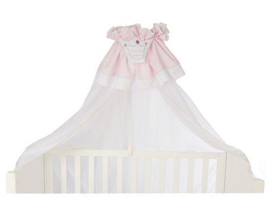 voile de lit pour lit d corer le lit de b b blanc et rose pale broderie couronne de princesse. Black Bedroom Furniture Sets. Home Design Ideas