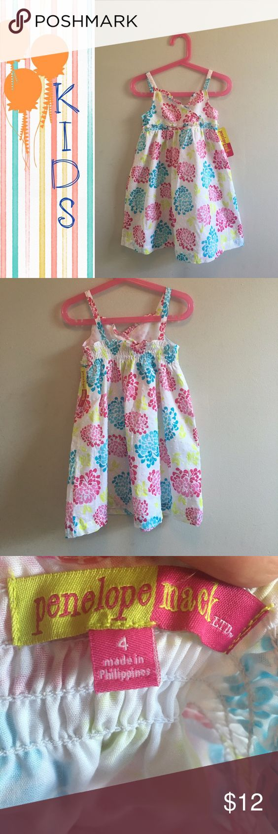 3x$18 Sale- Floral Dress for Toddler NWT floral dress size 4T. The dress has texture to it, cannot be seen well on the pictures but has tiny white pompoms all over which gives it texture. Brand new condition. Very cute! All items in this closet UNDER $10 are 3 x$18 with a custom listing. Just ask 😊 Penelope Mack Dresses