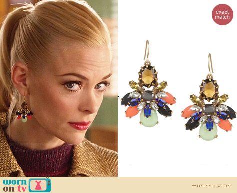 Lemon's multi-colored earrings on Hart of Dixie.  Outfit Details: http://wornontv.net/30943/ #HartofDixie