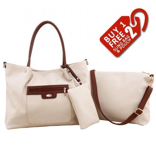 Alfio Young Fiona Beige Handbag