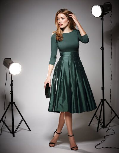 Taffeta Full Skirt Dress £95 - OMG I love this!!! And the colour would match my new winter coat!
