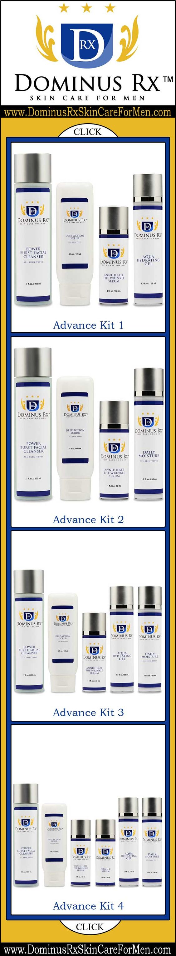 Mens Skincare - Skincare for Men ♦ You deserve a fighting chance to look your best with products you can trust and rely on to get the job done. - Dominus Rx Skin Care for Men - http://www.dominusrxskincareformen.com/
