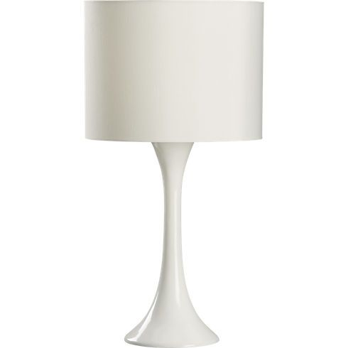 ada white table lamp in table lamps   CB2 for sofa table