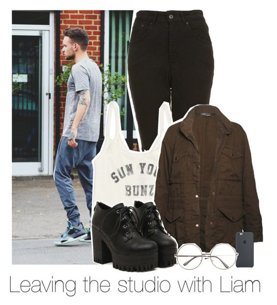 """Leaving the studio with Liam"" by bx-sxnnt ❤ liked on Polyvore featuring The Ragged Priest, Billabong, Vince, OneDirection and LiamPayne"
