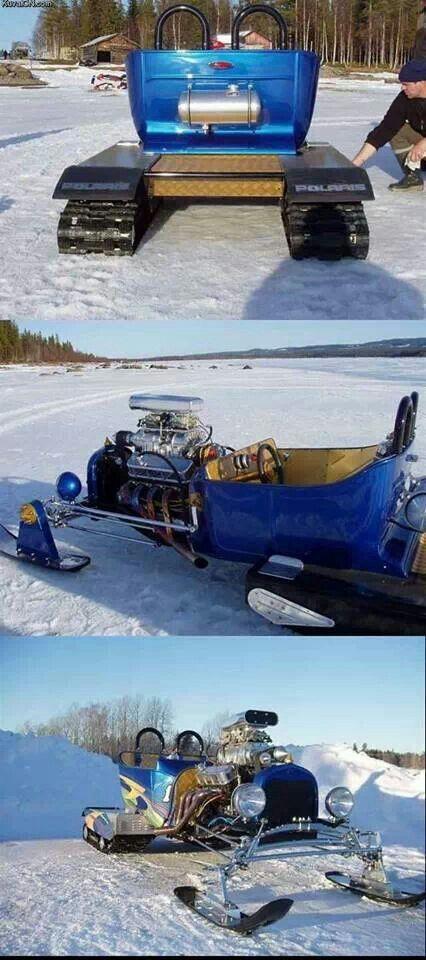 Hot rod snow mobile..too badass