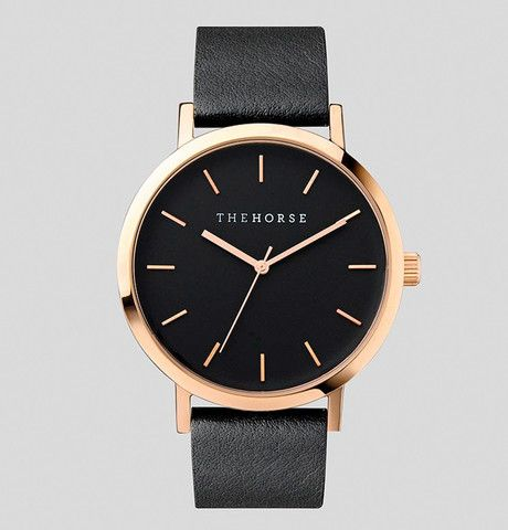 i want this for my birthday!!!! The Horse Original in Rose Gold with Black Face and Black Leather AU $129