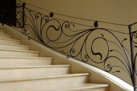 Image search and search on pinterest for Escaleras hierro forjado