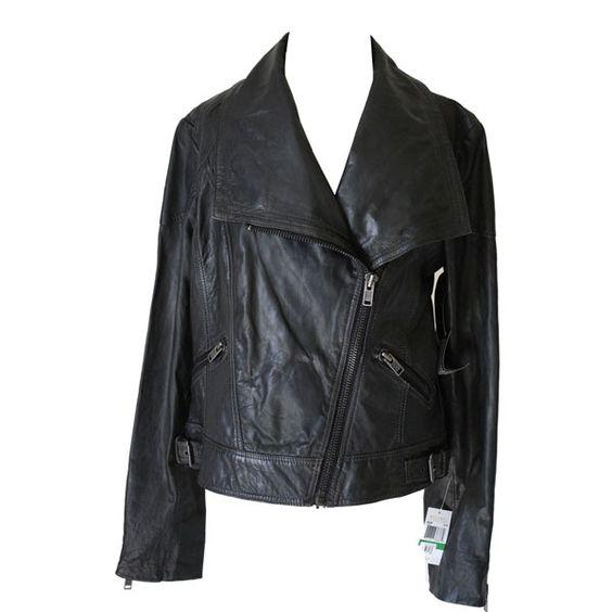 jaqueta de couro michael kors  www.lebeh.com.br