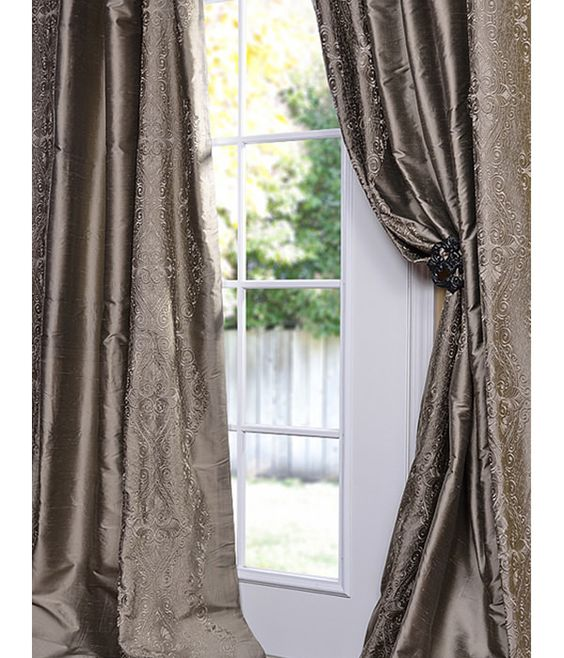 Curtains Ideas best curtain prices : Classic Chai Silver Thai Silk Curtains & Drapes at affordable ...