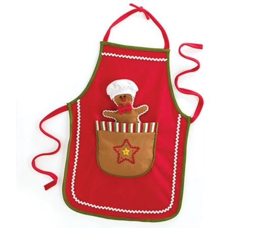 Gingerbread Man Apron: