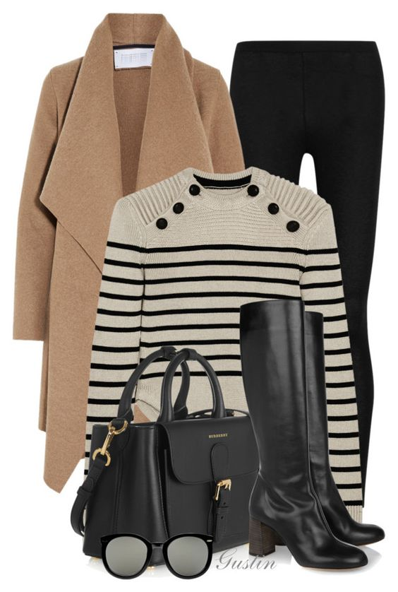 """fall"" by stacy-gustin ❤ liked on Polyvore featuring Donna Karan, Harris Wharf London, Isabel Marant, Burberry, Chloé, Karen Walker and ootd:"